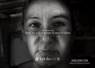 Angel Bins: Just DOnate It, 3 Print Ad by Alma Miami