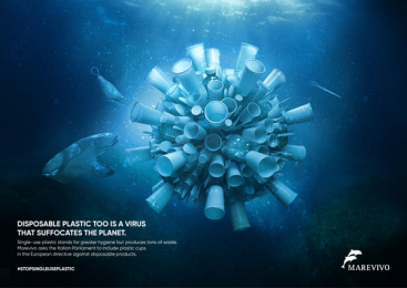 MAREVIVO: Virus Print Ad by Metaphora