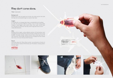 Metro Shoes: Cockroach Ambient Advert by Contract Advertising India, Makani Creatives