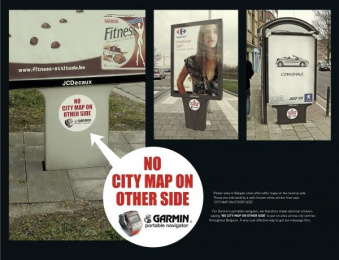 Portable Navigator: NO CITY MAP Outdoor Advert by Lg&f