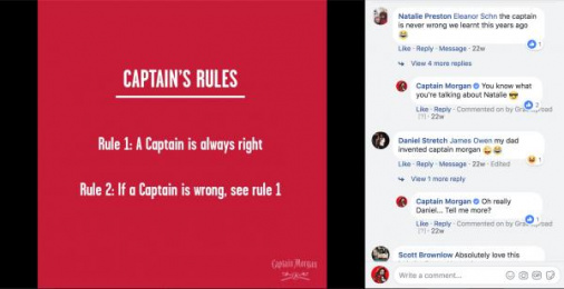 Captain Morgan: Cultural Commentary & Community Management, 1 Digital Advert by Gravity Road London