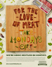 Greenfield Meat: Meatless Monday Print Ad by Havas Worldwide Toronto