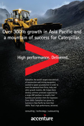 Accenture: Caterpillar Print Ad by Accenture, TBWA\Chiat\Day USA