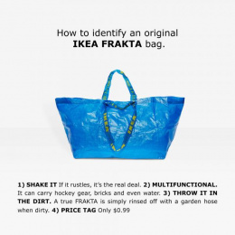 IKEA:  IKEA Frakta Balenciaga [alternative version] Print Ad by Acne Stockholm