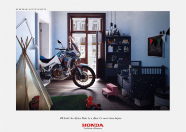 Honda: Africa Twin At Home, 2 Print Ad by DDB Paris