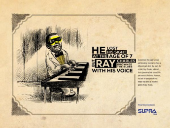 Supra Pens: Ray Charles Print Ad by Monkey Wrench