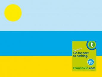 Transavia.com: Go for next to nothing, Beach Print Ad by H.