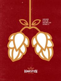 Karsten Brewery: Lungs Print Ad by Woop