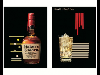 Maker's Mark: Lighting Sheet Poster - Line Outdoor Advert by Hakuhodo Tokyo, SIX Tokyo, Tohokushinsha Film Corporation