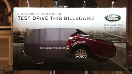 Land Rover: The Test Drive Billboard Outdoor Advert by Dentsu Singapore, Y&R Singapore