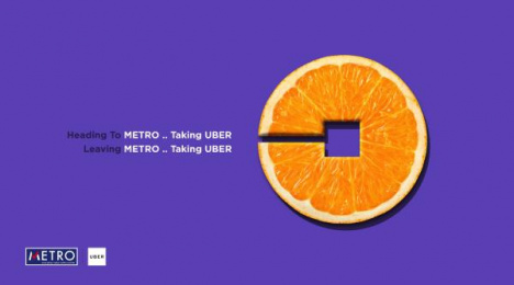 Uber: Orange Print Ad by AB&Partners