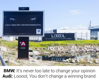 Audi: LOOOOL, 2 Outdoor Advert by Access Tunis