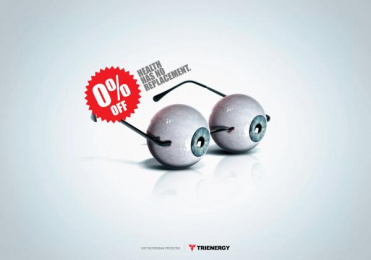 Trienergy: Glasses Print Ad by Genoma Bucaramanga