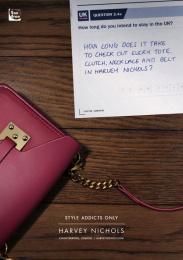 Harvey Nichols: Necklace and belt Print Ad by adam&eveDDB London
