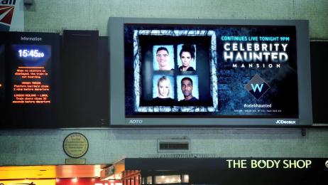 UKTV Channel W: Celebrity Haunted Mansion, 5 Outdoor Advert by UKTV Creative