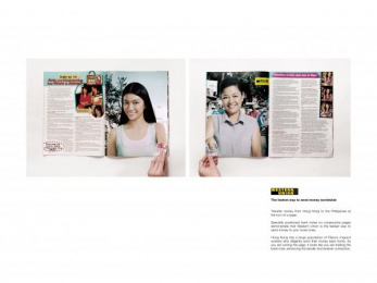 Western Union: HONG KONG TO PHILIPPINES Print Ad by Publicis Hong Kong