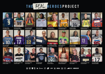 Sports United: #TheRealHeroes Project, 2 Print Ad by 72andSunny Los Angeles