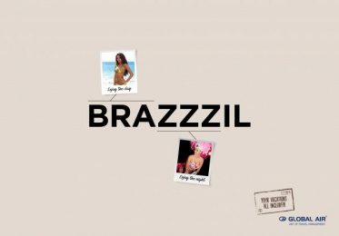 Global Air: Brazil Print Ad by Cheil Kazakhstan