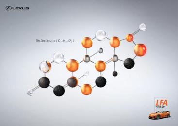 Lexus Lfa: Testosterone Print Ad by Saatchi & Saatchi + Duke France
