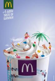McDonald's: Pool Print Ad by TBWA Lisbon