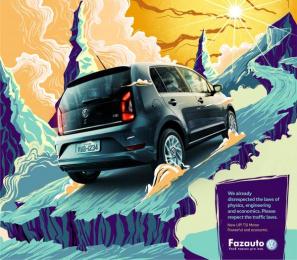 Fazauto: New UP! Powerful and economic, 3 Print Ad by G Marketing Comunicação