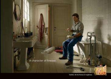 Candico: Bathroom Print Ad by Euro Rscg Brussels