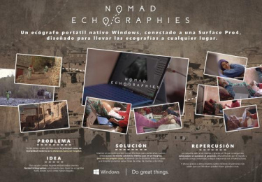 Microsoft Windows: Nomad echographies [image] Print Ad by VCCP Madrid