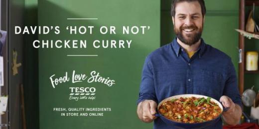 Tesco: Tesco's Food Love Stories, 3 Outdoor Advert by Mediacom London