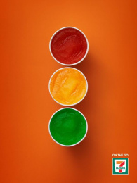 7-eleven: Slurpee Stop Light Print Ad by Spring Vancouver
