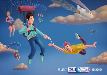Orbit: Parachute Print Ad by BBDO CA Almaty
