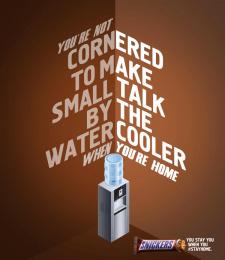 Mars: Water Cooler Print Ad by BBDO GUERRERO, MANILA