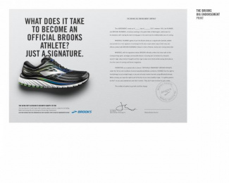 Brooks Running: The Big Endorsement, 2 Print Ad by Leo Burnett Chicago