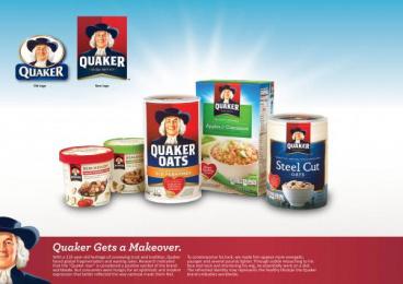 Quaker Oats: QUAKER BRAND IDENTITY MAKEOVER Design & Branding by Hornall Anderson