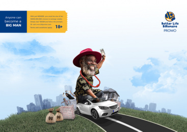 Better Life Billionaire: Big Man, 4 Print Ad by Dare Create, Lagos, Nigeria, Underdog Productions