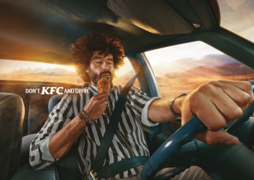 Kentucky Fried Chicken (KFC): Don't KFC and drive - Desert Bite Print Ad by TBWA\RAAD Dubai