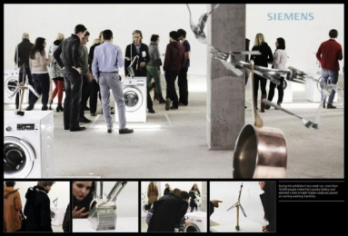 Siemens washing machines with anti-vibration Design: THE LAUNDRY-GALLERY, 3 Print Ad by Scholz & Friends Berlin