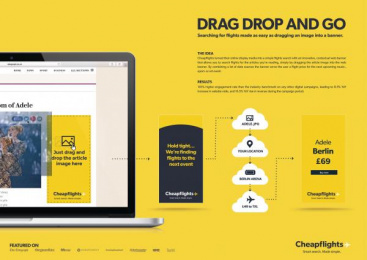 Cheapflights.co.uk: Drag, Drop & Go [image] Digital Advert by Uncle Grey Copenhagen