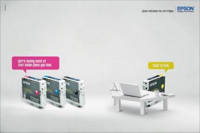 Epson Individual Ink Cartridges: Restaurant Print Ad by Fabraquinteiro Comunicacoes Sao Paulo