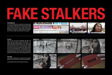 Blackbelt Fitness: FAKE STALKERS Outdoor Advert by Grey Mumbai