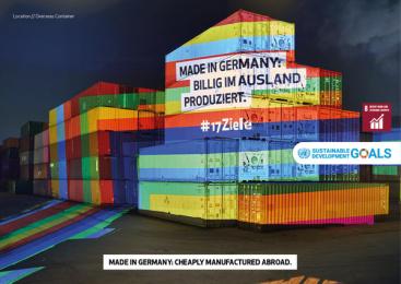 17Ziele: 17 Live Projections, 11 Print Ad by HUisHU. Digitale Kreativagentur, Hamburg & Hannover, Germany