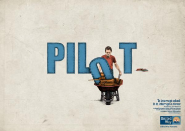 United Way: Pilot Print Ad by Rusu+bortun Brand Growers