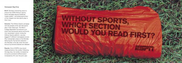 ESPN Classic: WITHOUT SPORTS Direct marketing by Wieden + Kennedy New York