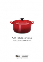 Le Creuset: End of the World Print Ad by Canvas Cape Town