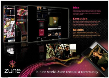 Zune Mp3 Player: ZUNE SOCIAL MEDIA PROGRAMME Print Ad by twofifteenmccann San Francisco