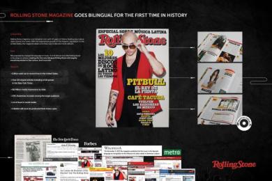 Rolling Stone Magazine: BILINGUAL ROLLING STONE Promo / PR Ad by Lapiz Chicago, Leo Burnett Chicago