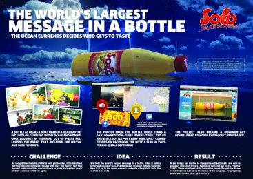 Solo: MESSAGE IN A BOTTLE, 3 Promo / PR Ad by Try/Apt Oslo