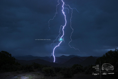 Ford: Let the storm lead the way, 2 Print Ad by 3AW Brazil