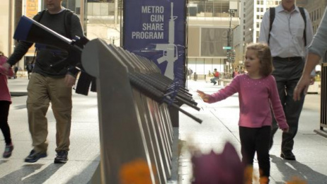 Brady Center to Prevent Gun Violence: Metro Gun Share Installation, 2 Ambient Advert by The Escape Pod