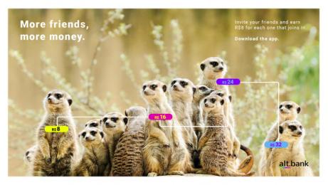 Alt.bank: Member get member, 4 Digital Advert by GhFly, Curitiba, Brazil