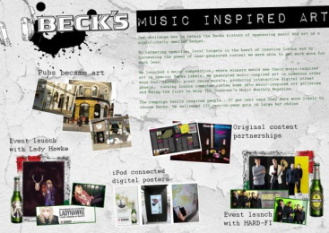 Becks Beer: MUSIC INSPIRED ART Promo / PR Ad by Starcom London